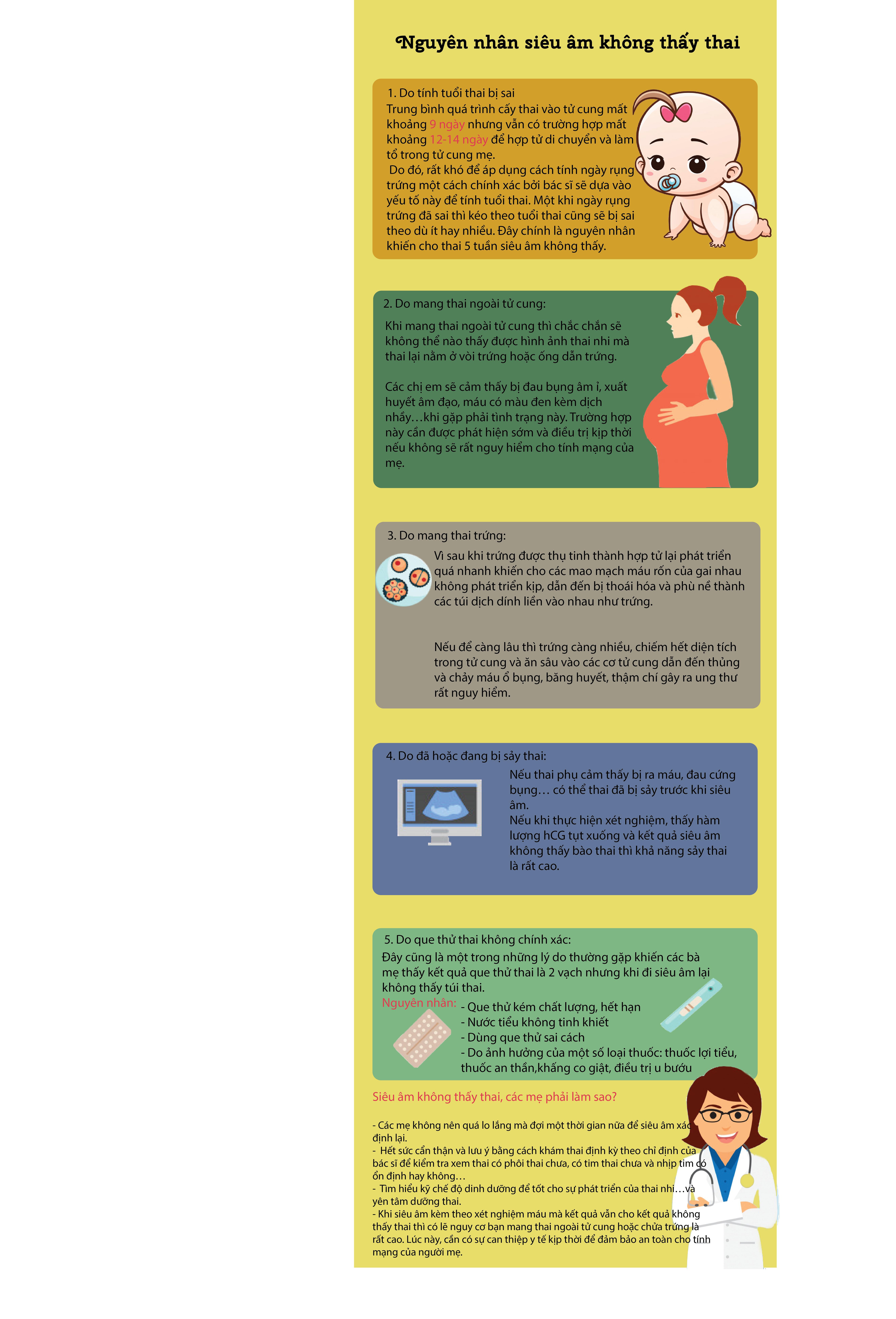 nguyên nhân siêu âm không  thấy thai